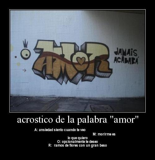 amor21 2 Acrosticos de AMOR y TE AMO