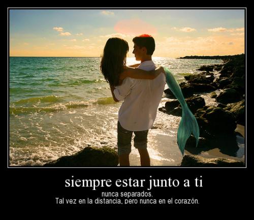 juntos para siempre nunca separados tal vez en la distancia pero nunca en el corazon desmotivaciones de amor Estar Junto a Ti