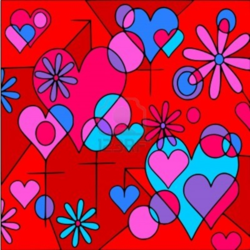Continuamos con mas bellas imágenes abstractas de corazones, como