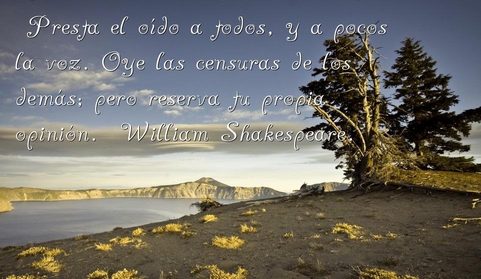 Frases de amor y amistad de William Shakespeare