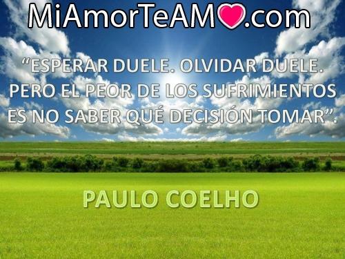 Frases de Paulo Coelho Reflexiones de amor de Paulo Coelho