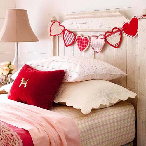 Guirnalda de corazones para San Valentín Imágenes de Manualidades para San Valentin