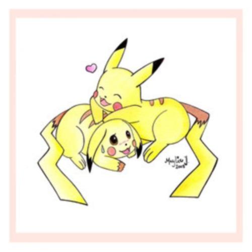 PMU   Cute Pikachu Couple by TigerJade 86 Imágenes de Pikachu enamorado