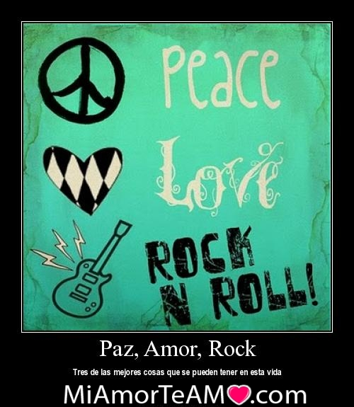 Peace Love Rock   n   Roll by xsCenekiDDx1 Canciones de rock románticas