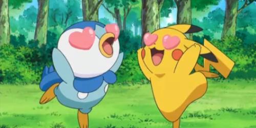 Pikachu X Piplup 3 Imágenes de Pikachu enamorado