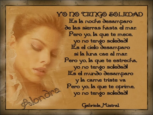 Poemas de amor de Gabriela Mistral