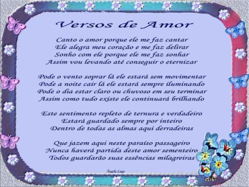VERSOS DE AMOR Versos románticos
