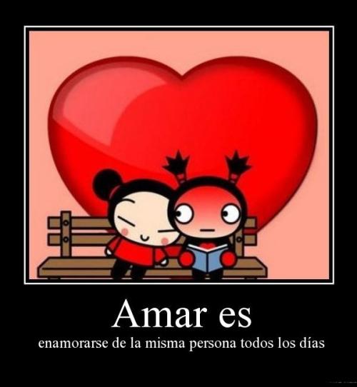 Amar es enamorarse de la misma persona todos los dias