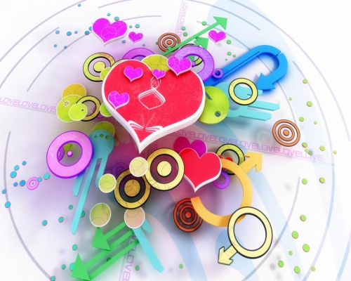 amor en 3d Imágenes de amor 3D