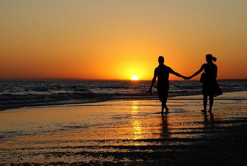 amor en la playa1  imágenes románticas de playa