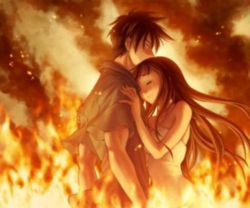 anime fire Imágenes Animes de amor
