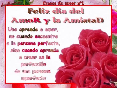 carta dia amor amistad Versos y Frases para el día del amor y la amistad