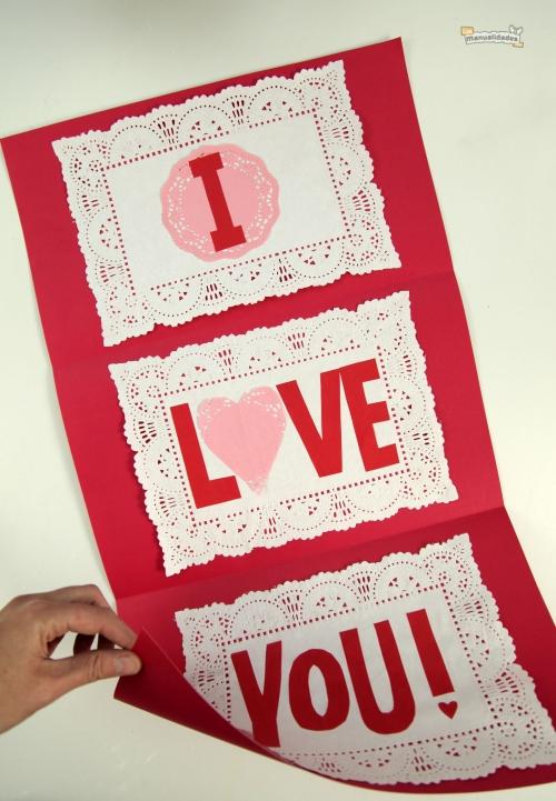 como hacer tarjetas de amor originales  6307 Tarjetas Caseras para San Valentin