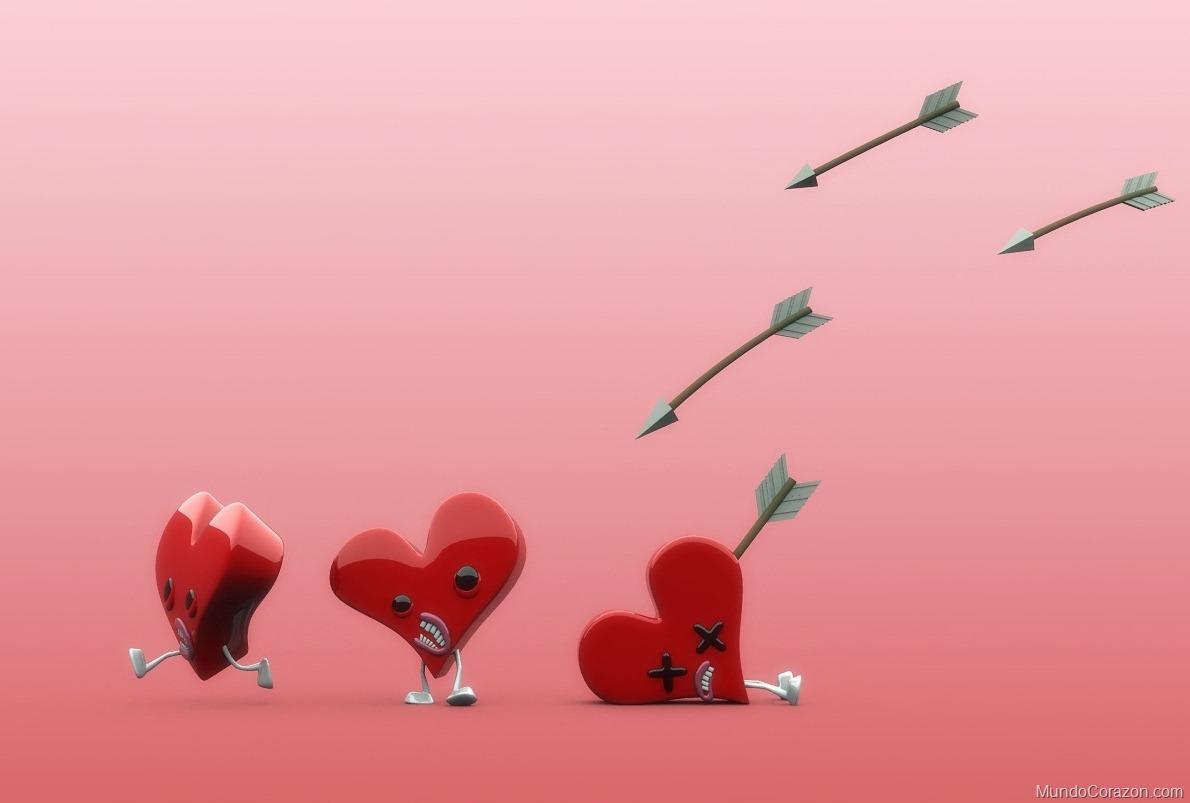 corazones cupido Imágenes de Corazones Flechados