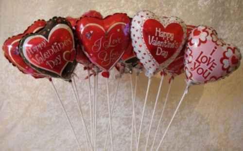 decoracion con globos para san valentin Globos de Amor para San Valentin