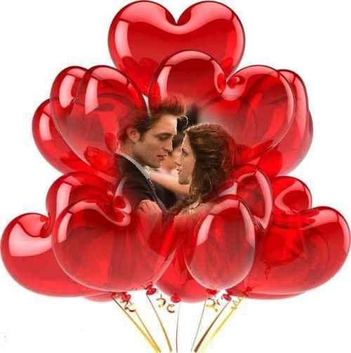 fotomontajes de amor san valentin Globos de Amor para San Valentin