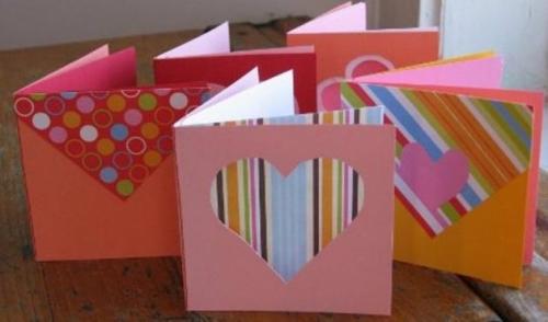 romanticas tarjetas de papel1 0 Tarjetas Caseras para San Valentin