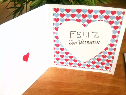 tarjeta san valentin 1 Tarjetas Caseras para San Valentin