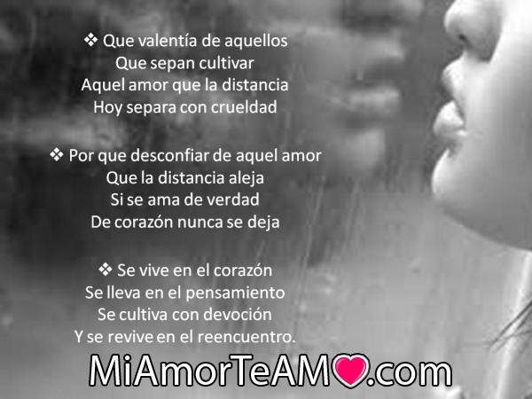 versos de amor a distancia 2 Versos románticos