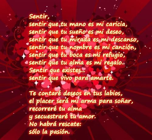 Poemas para el dia de los enamorados