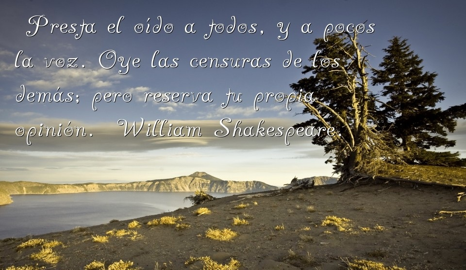 Frases de amor y amistad de William Shakespeare