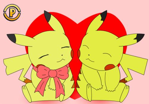 Pikachu enamorado