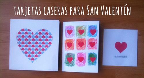 Tarjetas Caseras para San Valentin