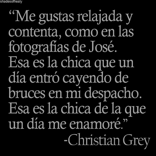 Imágenes con frases de Christian grey