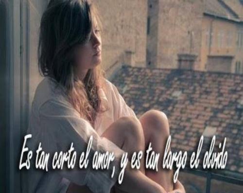 Es tan corto el amor y tan largo el olvido