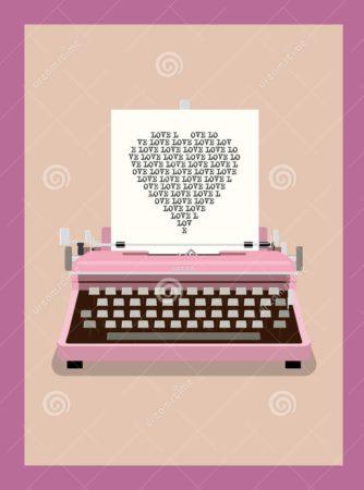 letra-de-amor-ejemplo-retro-del-vector-de-la-mquina-de-escribir-42191853